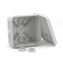 Коробка ответвительная с 8+2 кабельными вводами д.25/20мм, IP55, двойной замок, 85х85х40мм, 53785, ДКС
