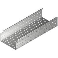 Лоток металлический перфорированный оцинкованый 300х100, L=2000мм, t=0,7мм Бакс, Baks Tray (Tray( KC