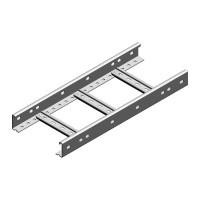 Кабельрост металический оцинкованый 400х60, L=3000мм, t=1,5мм Бакс, Baks Ladder (DKP400H60/3,  1,5 m