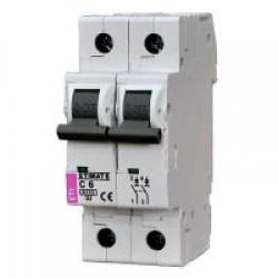 Автоматический выключатель  ETIMAT 6   6A 2p C