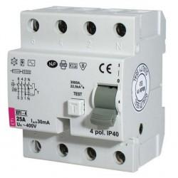 Дифференциальное реле EFI-4 100 A  30mA  AC