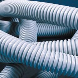 Труба ПВХ гибкая гофр. д.20мм, Light с протяжкой, цвет серый 91820 ДКС
