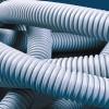 Труба ПВХ гибкая гофр. д.25мм, Light с протяжкой, цвет серый 91825 ДКС