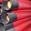 Усиленные (жесткие) двустенные гофрированные трубы из полиэтилена, (12 кПа), д.110, с муфтой, цвет красный, 160911-12K, ДКС