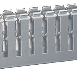 T1-F Перфорированный короб 25х80, шаг 20 мм, перфорация 8 мм, длина 2 м, серый 00146 ДКС