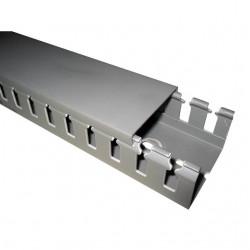 T1 Перфорированный короб 80х40, шаг 20 мм, перфорация 8 мм, длина 2 м, серый 00163 ДКС