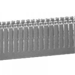 T1-EF Перфорированный короб 25х80, шаг 10 мм, перфорация 4 мм, длина 2 м, серый 01126 ДКС