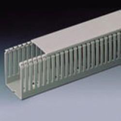 T1-E Перфорированный короб 80х60, шаг 10 мм, перфорация 4 мм, длина 2 м, серый 01139 ДКС