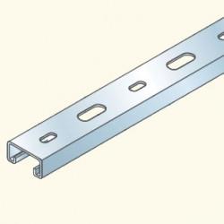 PS-швеллер 41х21 перфорированный, 3м, гальванизированная сталь PS500/3U(653005) Tolmega