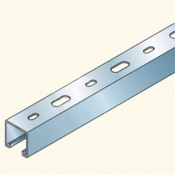 PS-швеллер 41х41 перфорированный, 3м, гальванизированная сталь PS230/3U(653002) Tolmega