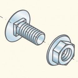Болт+гайка 6х12, GM TRCC6x12GM (651001) Tolmega