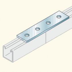 Соединитель швеллеров, 4отв., гальванизированная сталь PS723HDG (678003) Tolmega
