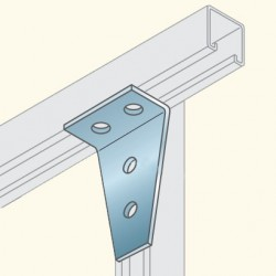 Соединитель швеллеров, г-образный, гальванизированная сталь PS748HDG To(678043) Tolmega