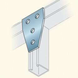 Соединитель швеллеров, трапецевидный, гальванизированная сталь PS747HDG(678024) Tolmega