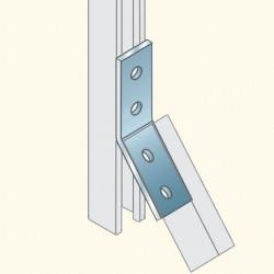 Соединитель швеллеров, угол 135, гальванизированная сталь PS786HDG Tolm(678203) Tolmega