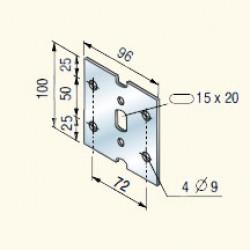 Соединительная пластина, оцинкованная JPG (613023) Tolmega