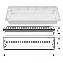 Светильник аварийный (акумуляторный) ЛБО-03В-2х8 REL-218, 10008426 DeLux