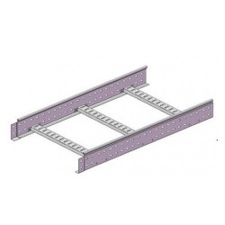 Лестничный лоток 80х400, L3000, inox, LL8040INOX, ДКС