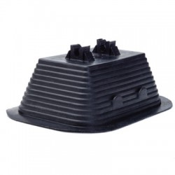 Прямоугольный пластиковый держатель 145х106х60 мм, под пруток д.8 мм, с бетоном, вес 1,03 кг, полиэтилен с бетонным наполнением, ND2102, ДКС