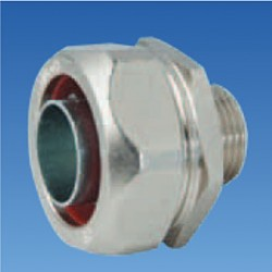 Соединитель металлорукова 15мм к резьбовому соединителю M20, STE-FCB15-20
