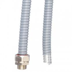 Металлорукав DN 40мм в ПВХ изоляции, Dвн 40,0 мм, Dнар 46,0, 25 м, цвет серый, 6071-040, ДКС