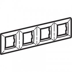 Рамка на 2+2+2+2 модуля (четырехместная), цвет малиновый RAL3027, 75014R, ДКС