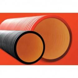 Труба жесткая двухслойная электротехническая из полиетилена, в комплекте с муфтой, радиус поворота к 40 диаметров трубы; O внеш./вн., мм 200/172; кольцевая жесткость, кПа 6, 160920-6K, ДКС