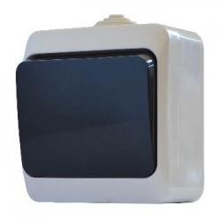 Выкл. одноклавишный с черной клавишей ВЗ10-1-IP44N, АСКО