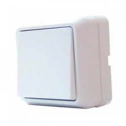 Выключатель 1-кл. BЗ10-1-0-Сb-W, АСКО