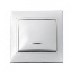 Выключатель 1-кл. с подсветкой BBсб10-1-1-Fl-W , АСКО