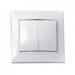 Выключатель 2-кл. BBсб10-2-0-Fl-W, АСКО