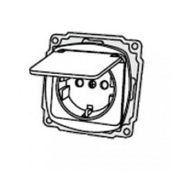 Механизм розетки с крышкой 2Р+PE РВб16-З-Ov-I, АСКО