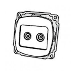 Механизм розетки 2 * TV РВtv-2-Sq-W, АСКО