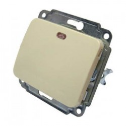 Механизм выкл. 1-кл. с подсветкой BB10-1-1-Sq-I, АСКО