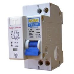 Дифференциальный выключатель ДВ-2002 6А 10мА, A0030010009, АСКО