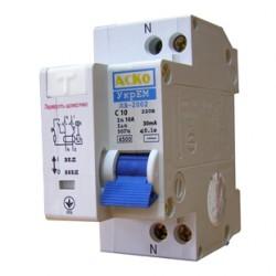 Дифференциальный выключатель ДВ-2002 10А 30мА, A0030010004, АСКО