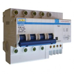 Дифференциальный выключатель ДВ-2006 4p 63А 30мА, A0030020005, АСКО