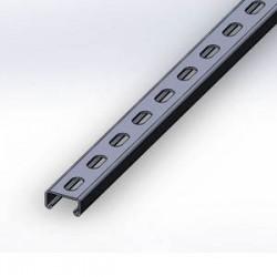 Профиль монтажний С-обр., 30х15х2,0мм, длина 2000мм, оцинков., отверстия - 30х11мм, 611420, СКАТ