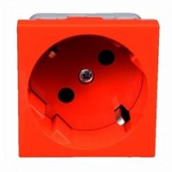Розетка модульная 45х45, с заземлением, красная, QS 45x45 C BB, Копос