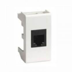 Модульный адаптер с телефонным разъемом RJ-12, QD 45x22.5 RJ-12 HB, Копос