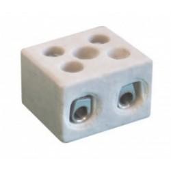 Термостойкая керамическая клеммная колодка, 30х23х33 мм, 2 полюса, 30А,65704,ДКС