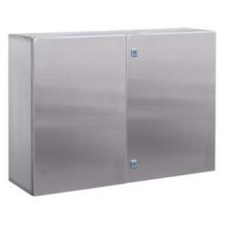 Навесной шкаф CE из нержавеющей стали (AISI 316), двухдверный, 1200 x 1200 x 300мм, с фланцем, R5CEF121232, ДКС