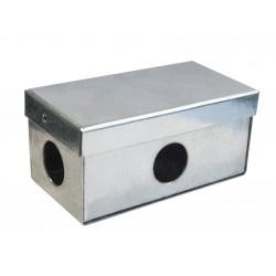 Коробка протяжная оцинкованная, 4 отверстия д.32мм, IP54, 100х50х44мм, 6430-32U, ДКС