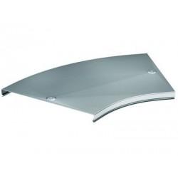 Крышка CPO 45 на угол горизонтальный 45° осн. 300, t=0,6мм, ДКС, 38025