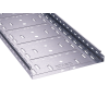 Лоток перфорированный 500х50 оцинкован по методу Сендзимира, длина 3м, t=0,8мм, ДКС, 35267
