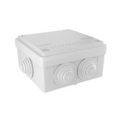Коробка ответвительная с 6 кабельными вводами, IP55, 100х100х50мм 53801 ДКС