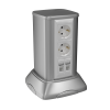 Колонна алюминиевая, 120х120х250, цвет серый металлик RAL9006 19521 ДКС