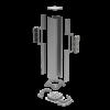 Колонна алюминиевая, 120х120х710, цвет серый металлик RAL9006 09591 ДКС