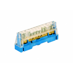 Клеммная колодка 1p (D 5x5,3+2x6), 750V (цвет - серый) 507F ДКС