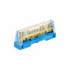 Клеммная колодка 1p (D 9x5,3+2x6), 750V (цвет - синий) 5011N ДКС